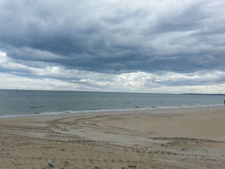 Edithvale beach. Autumn.