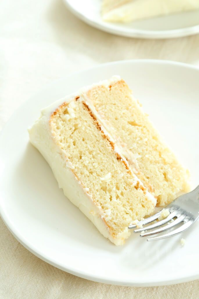 This is the very best gluten free vanilla cake you will ever eat. A super moist, tender crumb, and it bakes perfectly every time!