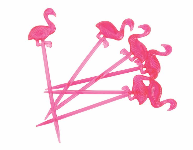 Lovely Serve Up Tasty Summer Treats With 24 Flamingo Hot Pink Forks/party Picks.  Perfect