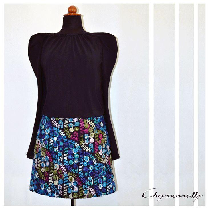 SARTORIAL   Chryssomally    Art & Fashion Designer - A colorful wool mini skirt, for a modern take on retro