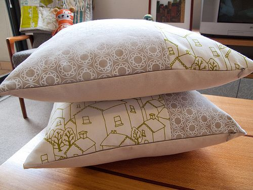 finished cushions by birds & trees, via Flickr