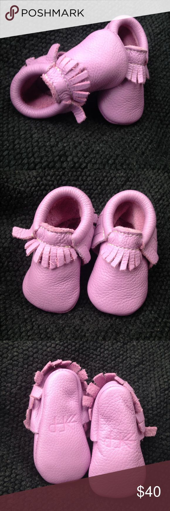 Freshly picked® Baby girl pink Mocassin New item. Will ship without box and bag Freshly Picked Shoes Moccasins