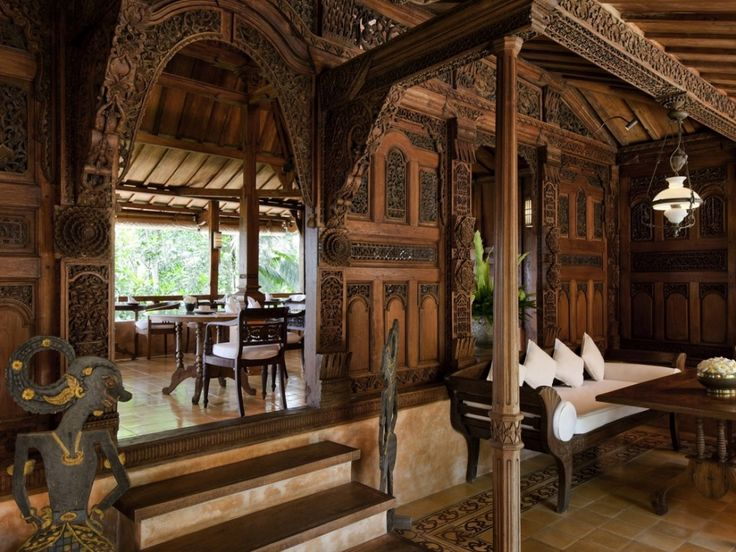 Kudus House, one of the two restaurants on the estate, occupies a 150-year-old richly carved former Javanese residence. Description from afr.com. I searched for this on bing.com/images