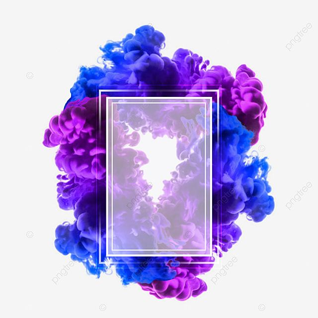 Blue Purple Smoke Frame Border Rectangle Clipart Watercolor Paint Electric Blue Png Transparent Clipart Image And Psd File For Free Download Colorful Frames Blue And Purple Blue And Purple Flowers