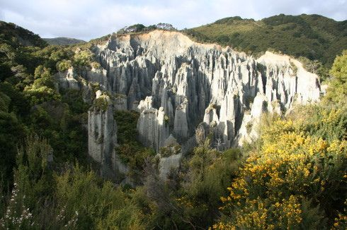 The Putangirua Pinnacles! Located in the Wairarapa region, this is where Aragorn, Legolas, and Gimli sought the Paths of Death to find ghostly aid for the battle at Minas Tirith.