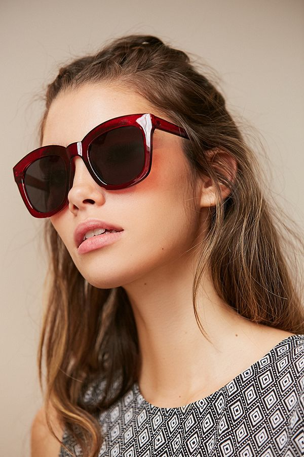 d2ccdea4ef5 Slide View  1  Brea Oversized Rectangle Sunglasses
