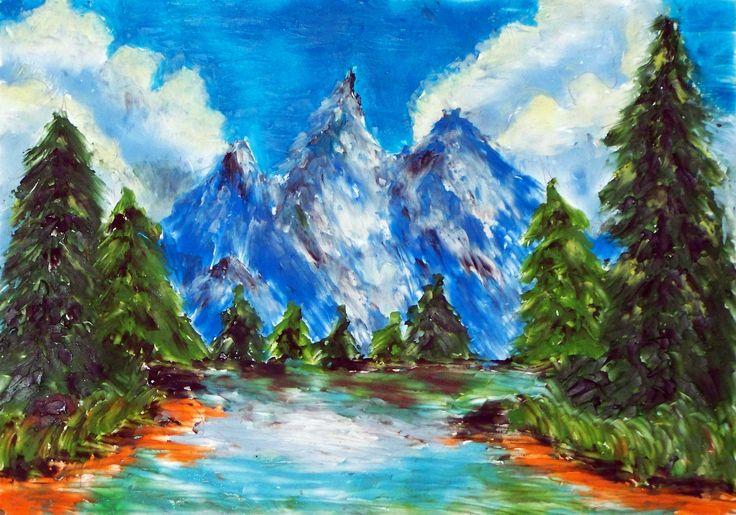 Obraz malowany plasteliną.