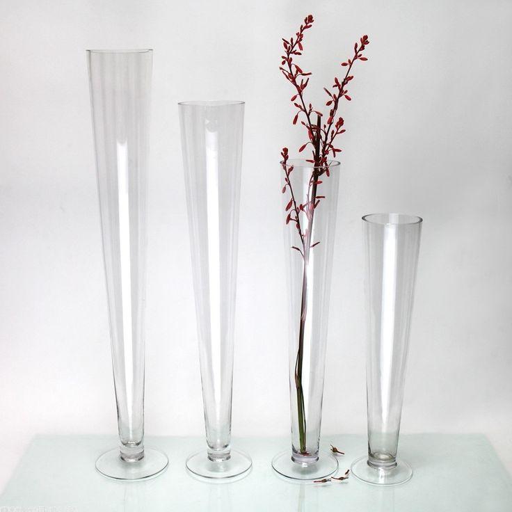 Tall Trumpet Glass Vases