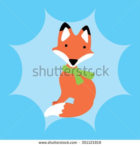 illustration of fox - stock vector