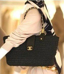 Channel style raffia bag crochet bag crochet by auntieshirley, $95.00