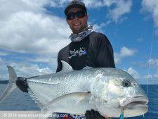A good dogtooth tuna caught in their Vanuatu fishing trip.