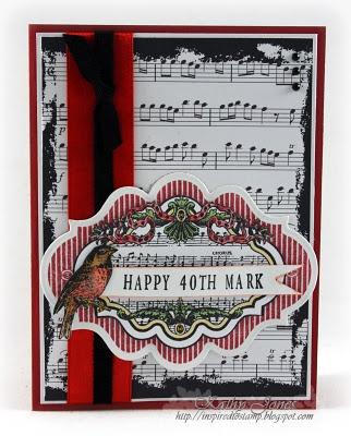 Happy 40th Birthday Card designed by @Kathy Jones