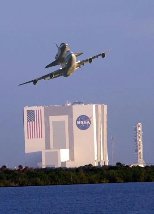 Space Shuttle Endeavor's last departure from Cape Canaveral, Florida ~ Sept.19, 2012