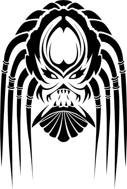 tribal predator design by chibi von uber kuhl predator pinterest more chibi and aliens ideas. Black Bedroom Furniture Sets. Home Design Ideas