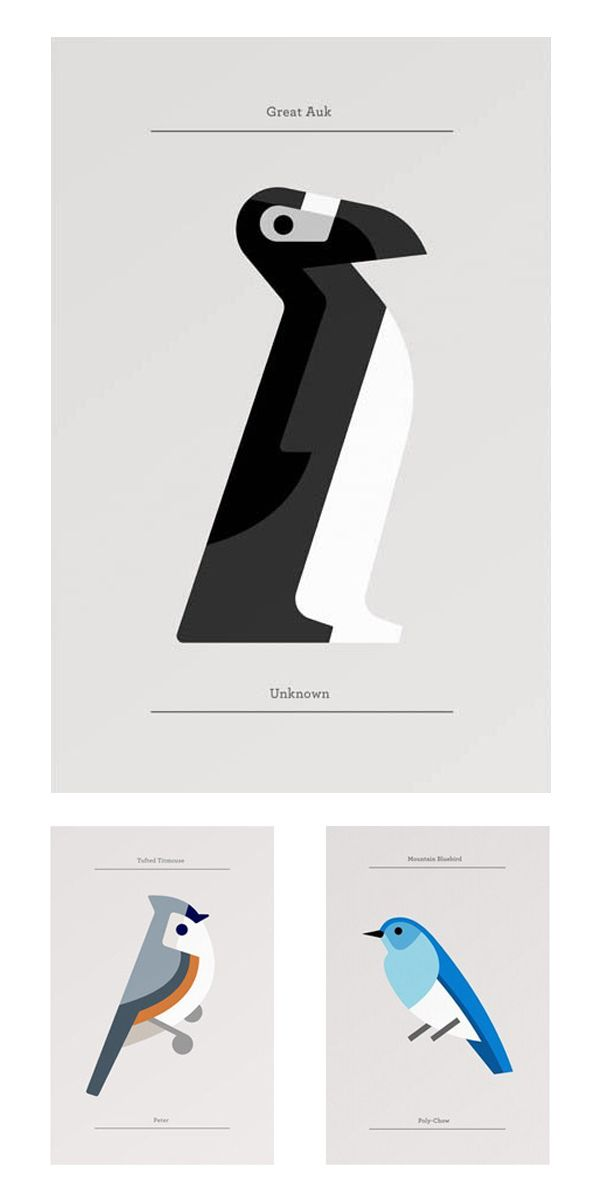40 designs d'animaux minimalistes | BlogDuWebdesign