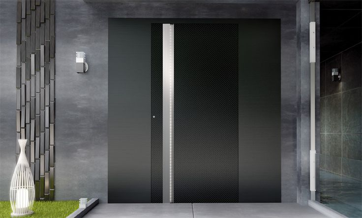 Discover all the information about the product Swinging entry door / stainless steel Zen Carbon - ALUMIL S.A. and find where you can buy it
