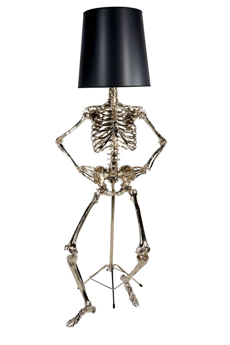 #Skeleton lamp with shade
