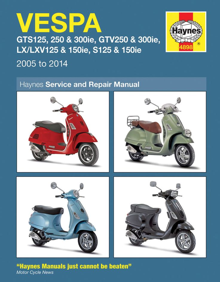Haynes M4898 Repair Manual for Vespa Models
