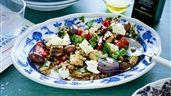 Rostade grönsaker med matvete och salladsost | Recept - ZETA
