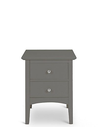 Hastings Bedside Dark Grey | M&S