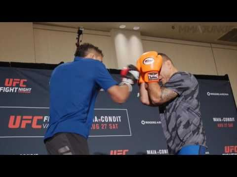 Charles Oliveira UFC on FOX 21 open workout archive and interview - raw footage