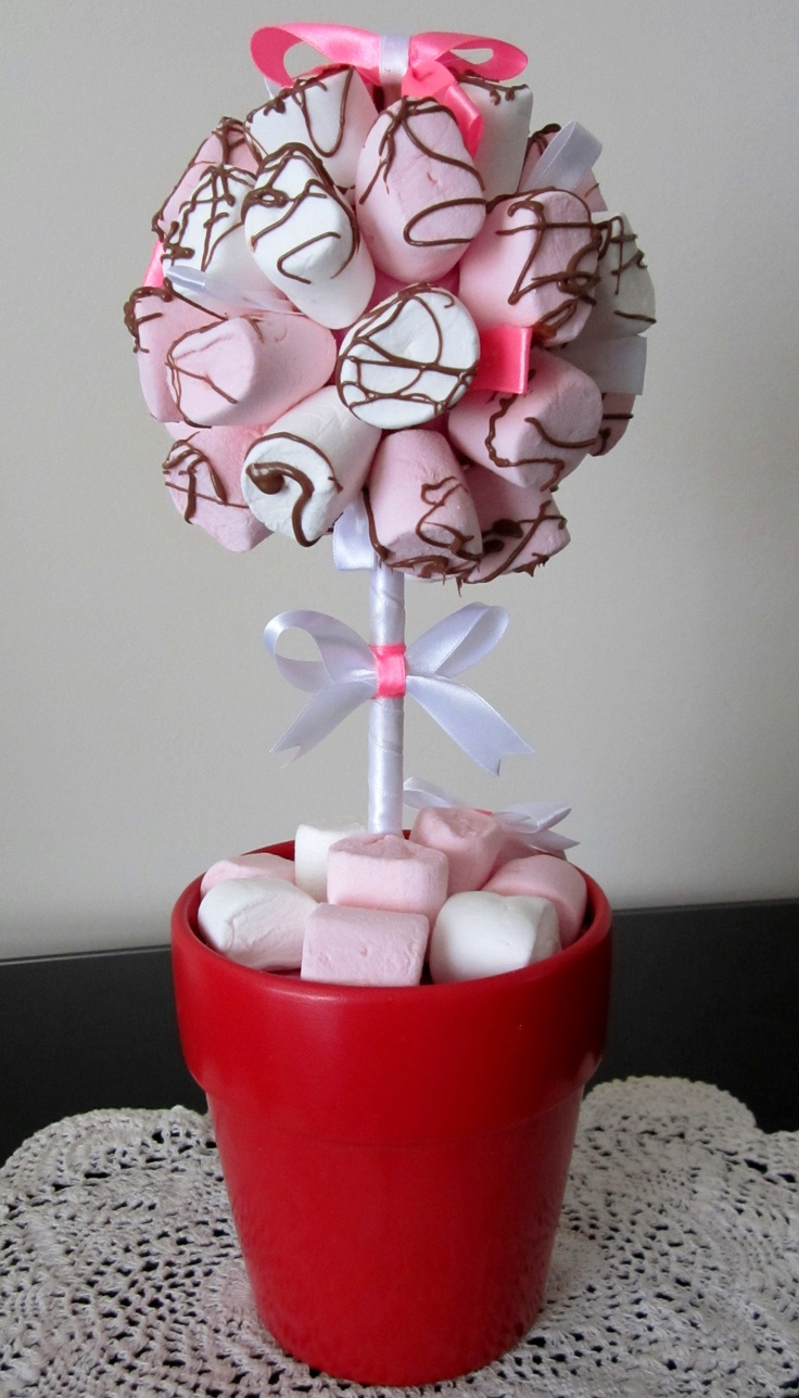 Marshmallow Tree drizzled with chocolate
