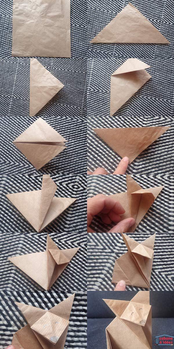 Comment faire un renard en origami | La cabane à idées