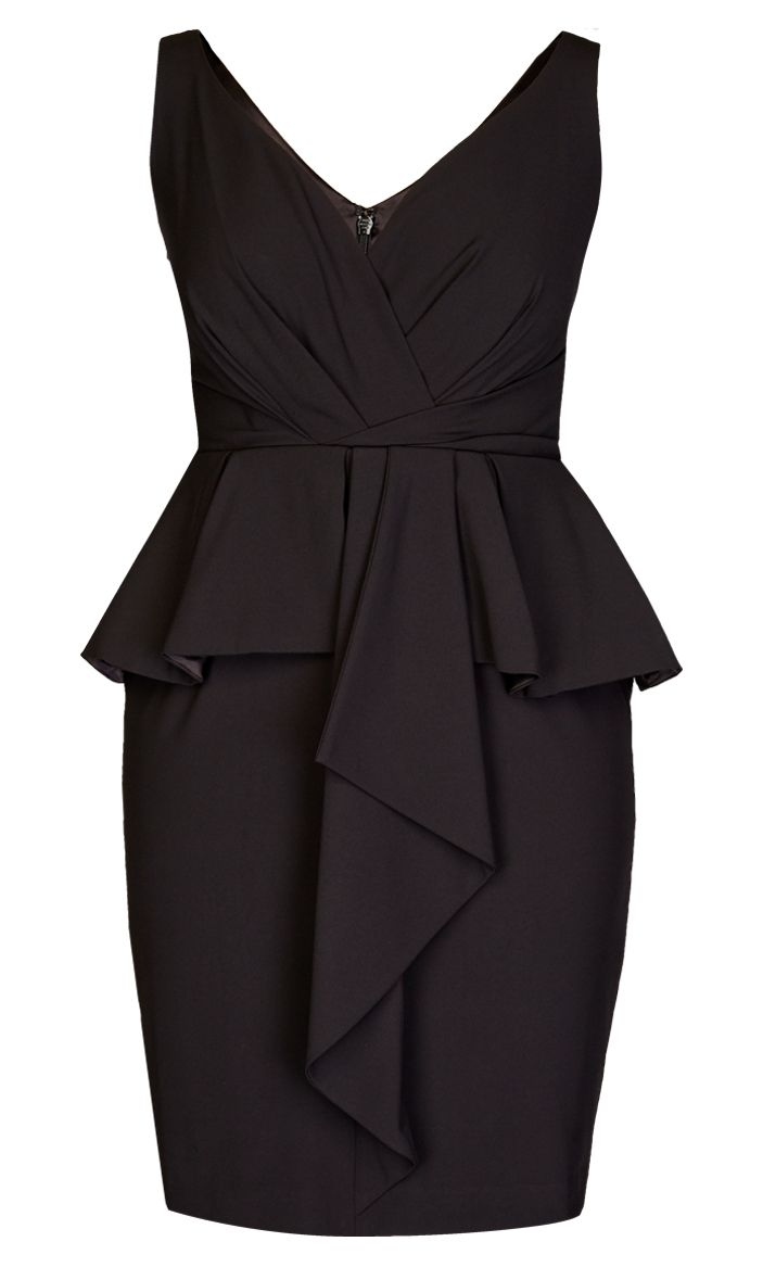 City Chic - BLACK BEAUTY DRESS  - Women's Plus Size Fashion