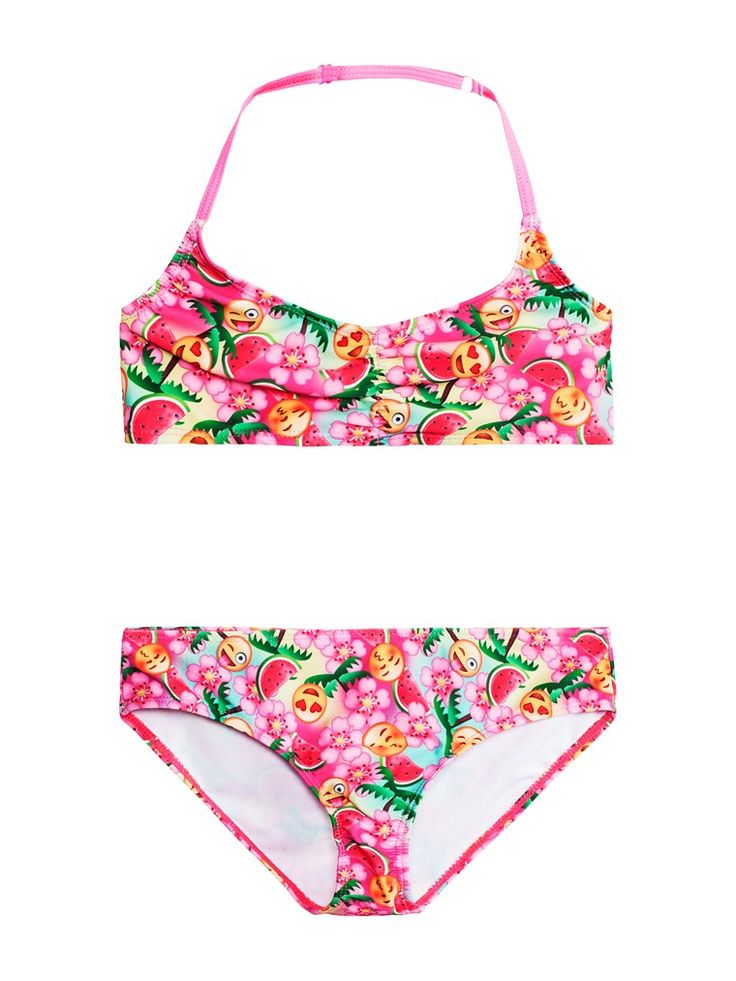 Emoji tvådelad bikini barn - Shoppa online & i butik hos KappAhl