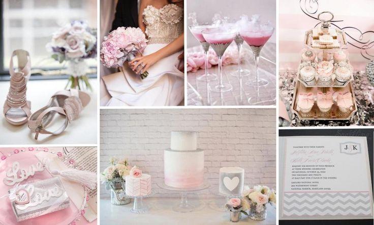 Silver + Pink Wedding Inspiration