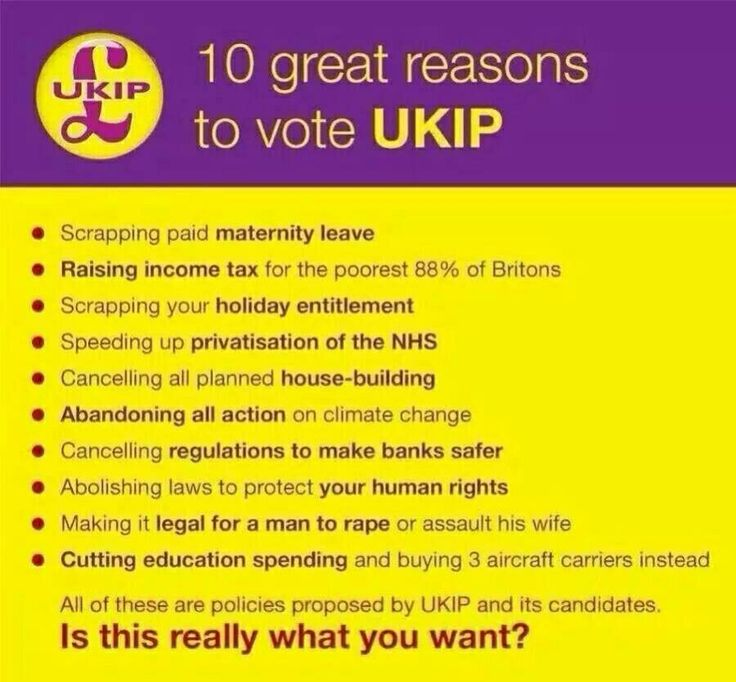 UKIP have threatened a Twitter user for posting this. It shows what their manifesto is. Anyone stupid enough to vote for this party should be prepared to defend WHY they think this is acceptable!!!!!!
