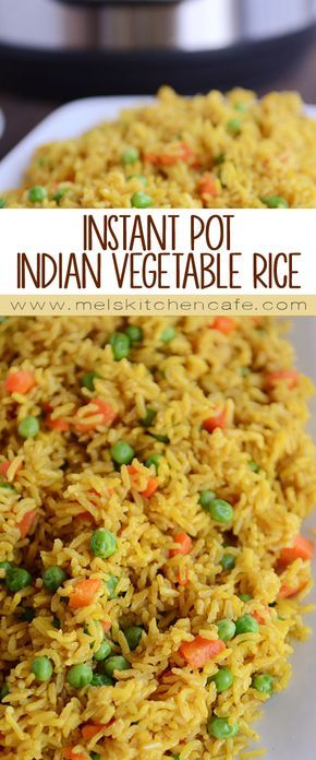 Healthy, cheap, and delicious, this pressure cooker Indian Vegetable Rice is a perfect side OR main dish and is super simple thanks to the Instant Pot!