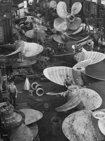Andreas Feininger  Ship Propellors, Bethlehem Steel
