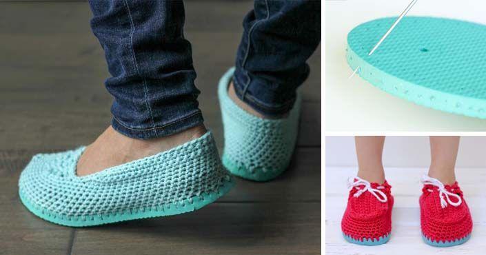 Kreatívny DIY nápad a návod urob si sám na háčkované papučky, ktoré vytvoríte zo starých letných žabiek - flipflopov. Upcyklácia, recyklácia, handmade