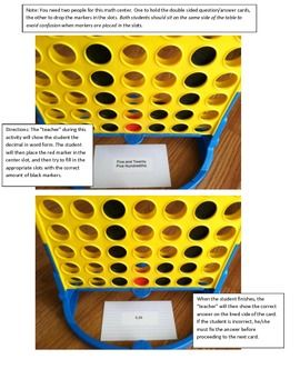 80 best free tpt math 3rd 5th images on pinterest teaching ideas place value activity for connect four math center decimals fandeluxe Images