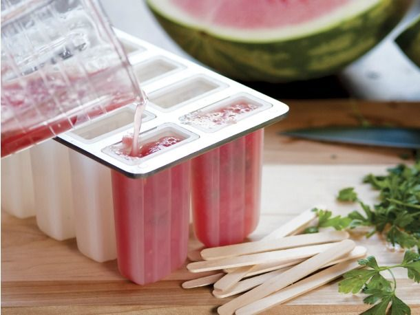 Watermelon & Parsley Pops (parsley is my current It herb; watermelon ...