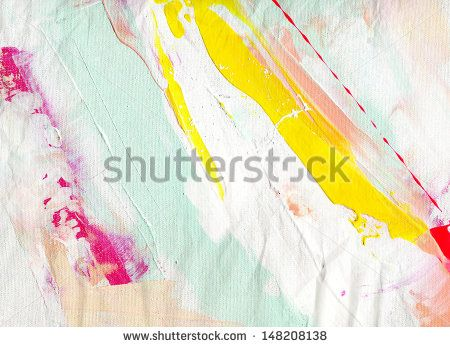 Abstract painting background with expressive brush strokes