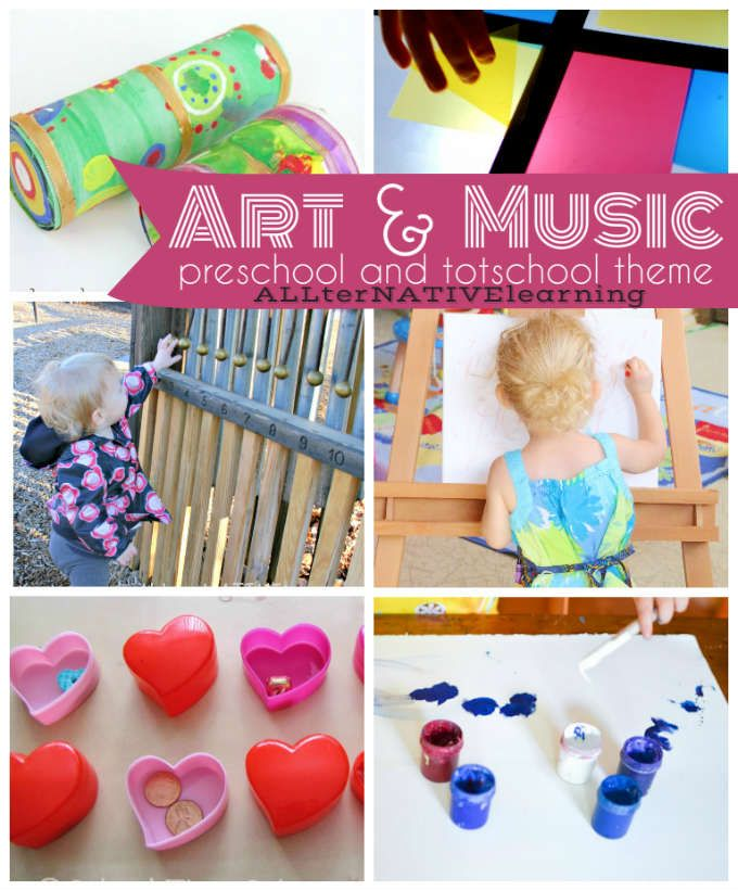 Art and Music learning theme. Learning about the Fine arts, famous artists, sounds, and more in tot school and preschool   ALLterNATIVElearning
