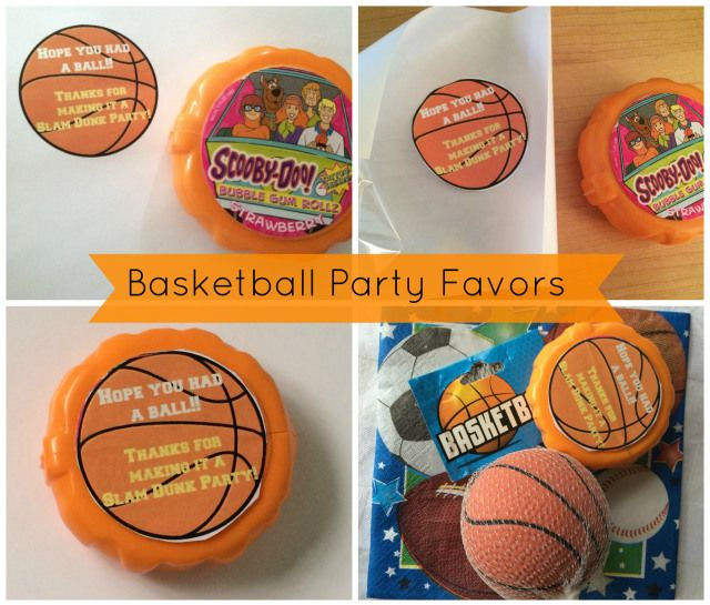 Basketball Party favors that are easy to make. Free printable birthday party favor