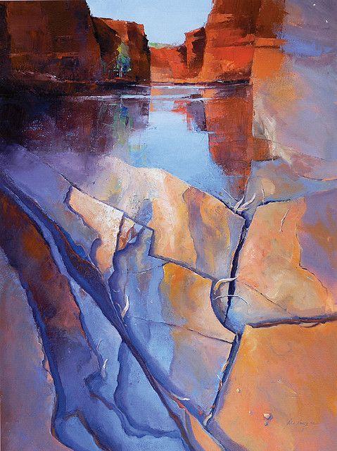 'Perspectives of Kalamina Gorge - The Plbara' by John Lacey