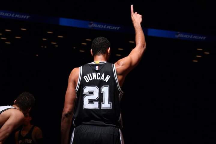 Tim Duncan's stats from tonight's game:   12 points, 11 rebounds, 6 assists, 6 blocks.  Pounding the Rock: Here's the full list of 39-year-olds in NBA history to post a 12-11-6-6 line in a game.  Tim Duncan  That's it. 11/18/2015