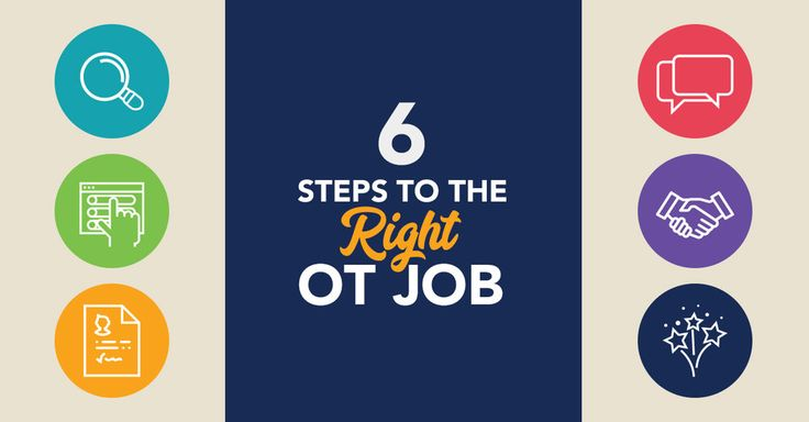 These 6 steps are your guide to finding the right OT job. From searching  the best occupational therapy jobs in your area to negotiating your final  offer, this page walks occupational therapists (OTs) and certified  occupational therapy assistants (COTAs) through the job hunting process.  (This