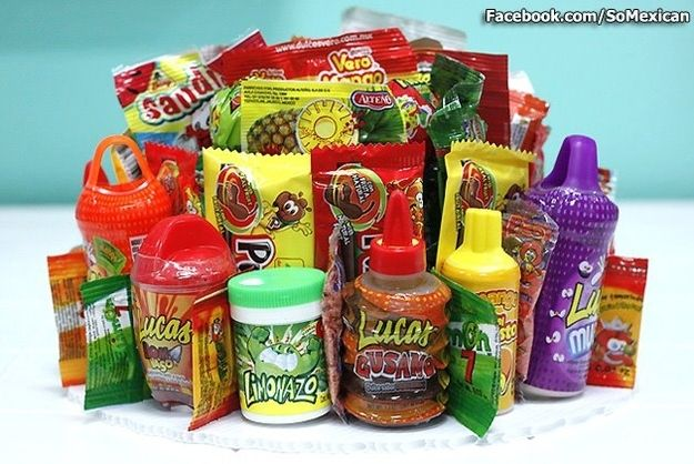 You don't find anything weird about spicy candy.   Community Post: 53 Signs You Grew Up Eating Mexican Food