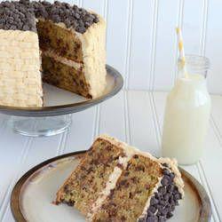 http://insidebrucrewlife.com/2012/04/chocolate-chip-banana-cake-with-honey-peanut-butter-frosting/