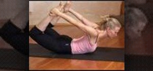 Bow pose - good for sore upper leg muscles. Such as post-hiking for me!