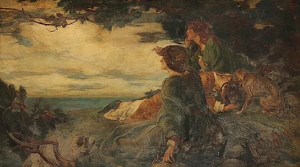 Robert Burns  (Scottish,1869-1941)The Ballad of Sir Patrick Spens,1902. Роберт Бернс (Шотландский,1869-1941) Баллада о сэре Патрике Спенсе, 1902 год. 罗伯特·伯恩斯 (苏格兰,1869年至1941年) 帕特里克·斯彭斯爵士的民谣,1902年。