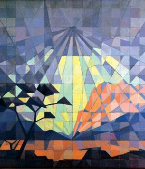 JH Pierneef - South West Africa landscape -- Pierneef became cubist in his later works.
