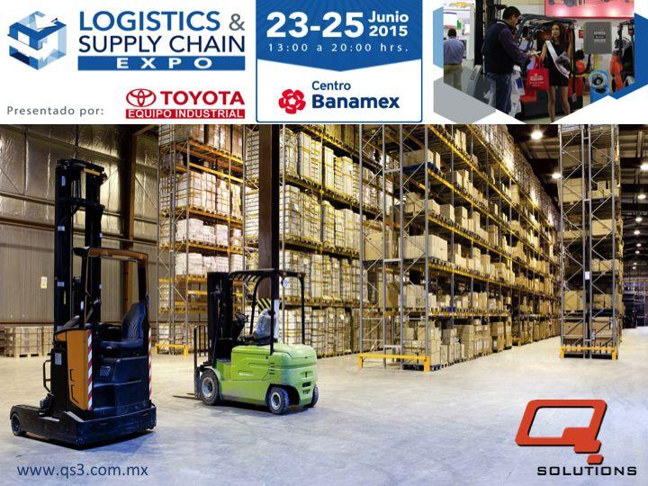 """¿Desea usted mejorar la excelencia operativa en cadena de suministro y conocer los nuevos esquemas de manejo logístico? Q SOLUTIONS le invita a asistir los días 23, 24 y 25 de Junio del 2015 a la expo """"Logistics & Supply Chain"""" que se llevará a cabo en las instalaciones de Centro Banamex de las 13:00 a las 20:00 horas. Para mayor información le invitamos a entrar al siguiente link: http://logisticsandsupplychainexpo.com/front_content.php"""