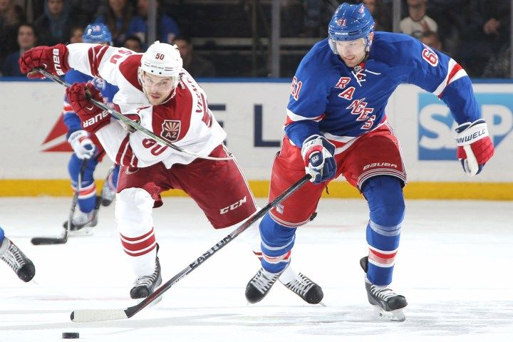 After 'strange' neck spasms, Nash returns to Rangers lineup - NEW YORK POST #Nash, #Rangers, #Coyotes