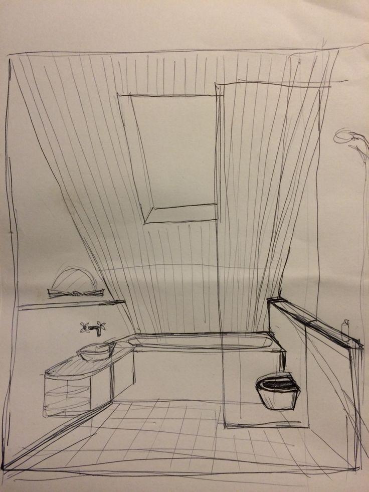 schetsje waterleidingen wegwerken - nisjes / randjes aan beide kanten - kranen uit de muur